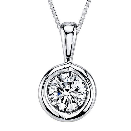 Sirena™ 1/5 CT. T.W. Diamond 14K White Gold Pendant Necklace