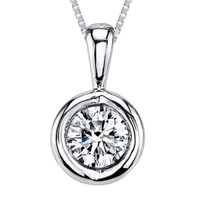 Sirena™ 1/4 CT. T.W. Diamond 14K White Gold Pendant Necklace