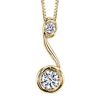 Sirena™ 1/5 CT. T.W. Diamond 14K Yellow Gold Pendant Necklace