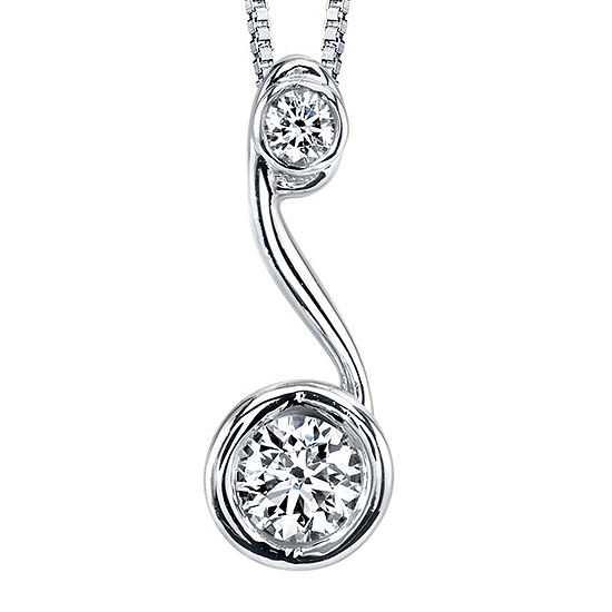 Sirena®1/5 CT. T.W. Diamond 14K White Gold Pendant Necklace