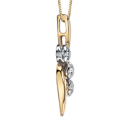 Sirena® 1/3 CT. T.W. Diamond 14K Yellow Gold Pendant Necklace