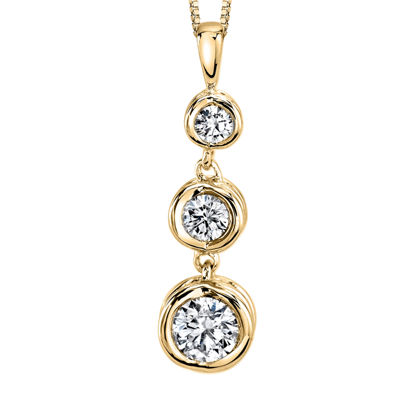 Sirena™ 1/4 CT. T.W. Diamond 14K Yellow Gold Pendant Necklace