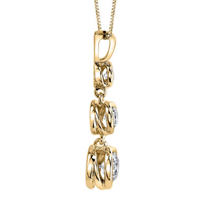 Sirena™ 1/2 CT. T.W. Diamond 14K Yellow Gold Pendant Necklace