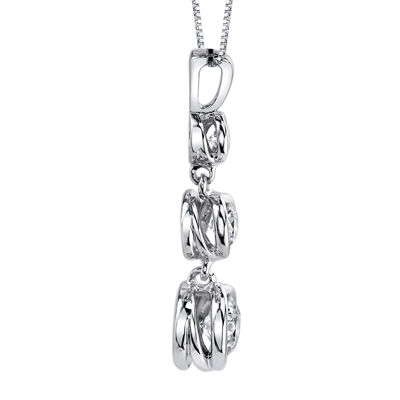 Sirena® 1/3 CT. T.W. Diamond 14K White Gold Pendant Necklace