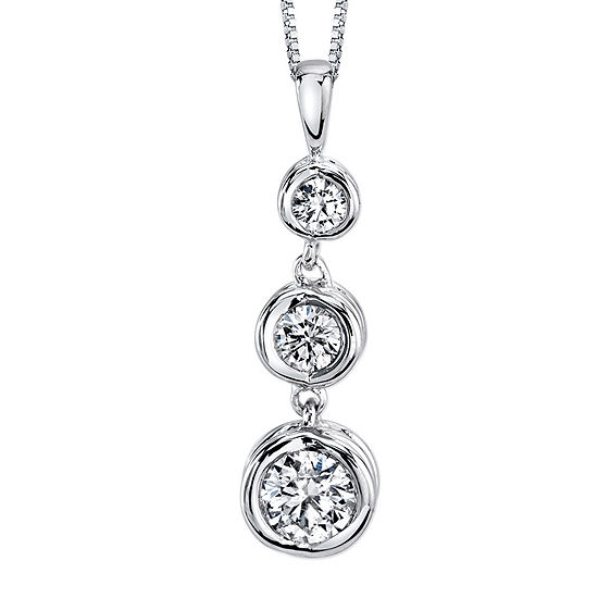 Sirena™ 1/2 CT. T.W. Diamond 14K White Gold Pendant Necklace