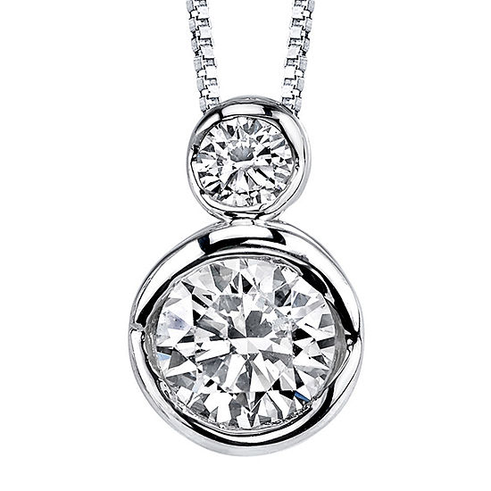 Sirena® 1/5 CT. T.W. Diamond 14K White Gold Pendant Necklace