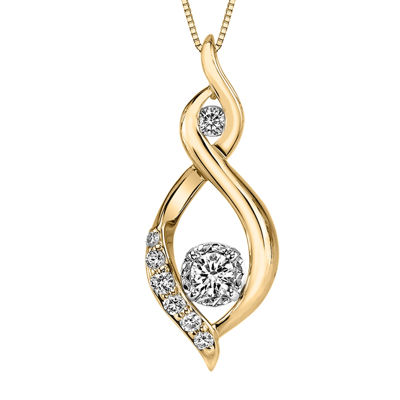 Sirena® 1/4 CT. T.W. Diamond 10K Yellow Gold Pendant Necklace