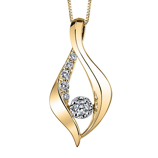 Sirena™ 1/4 CT. T.W. Diamond 10K Yellow Gold Pendant Necklace