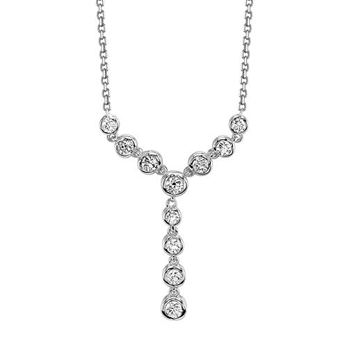 Sirena® 1/2 CT. T.W. Diamond 14K White Gold Necklace