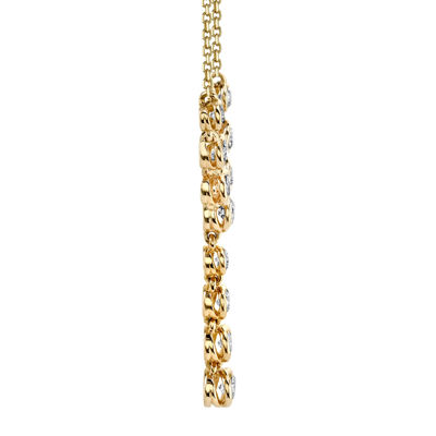 Sirena® 1/2 CT. T.W. Diamond 14K Yellow Gold Necklace