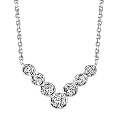Sirena® 1/4 CT. T.W. Diamond 14K White Gold Necklace