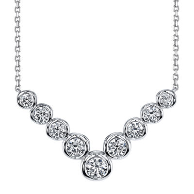 Sirena™ 1 CT. T.W. Diamond 14K White Gold Necklace