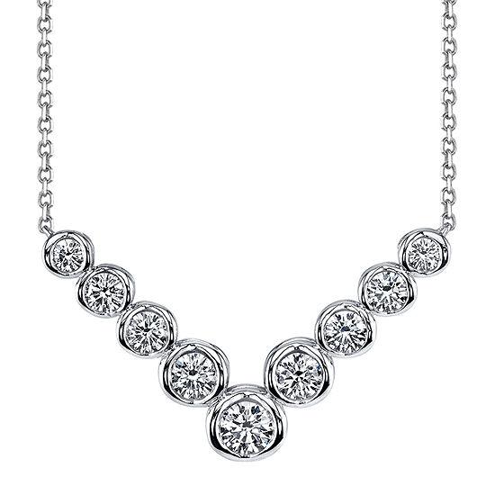 Sirena™ 1 CT. T.W. Diamond 14K White Gold Necklace