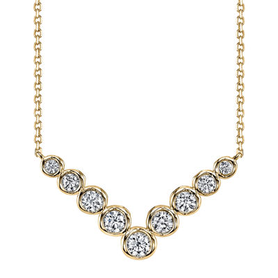 Sirena™ 1/2 CT. T.W. Diamond 14K Yellow Gold Necklace