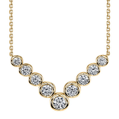 Sirena™ 1 CT. T.W. Diamond 14K Yellow Gold Necklace