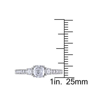 1 1/5 CT. T.W. Diamond 14K White Gold Ring
