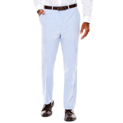 Stafford® Seersucker Flat-Front Suit Pants - Classic Fit