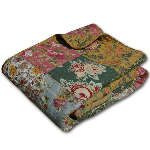 Greenland Home Fashions Antique Chic Quilted Cotton Throw