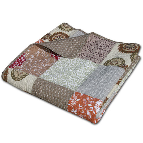 Greenland Home Fashions Stella Quilted Cotton Throw