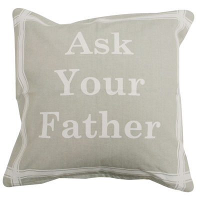 Park B. Smith® Ask Your Father Feather Decorative Pillow
