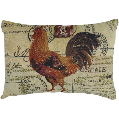 Park B. Smith® Rooster Postale Tapestry Decorative Pillow