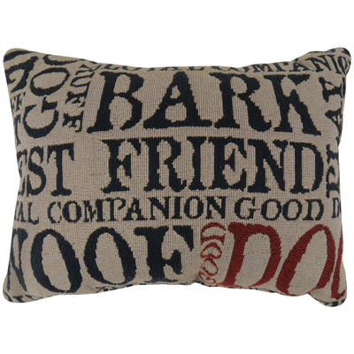 Park B. Smith®  Dog Words Tapestry Decorative Pillow