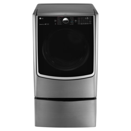 LG ENERGY STAR® 7.4 cu.ft. Ultra Large Capacity Smart Wi-Fi Enabled TurboSteam® Electric Dryer with On-Door Control Panel