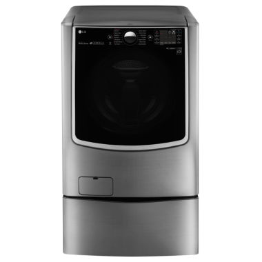 LG ENERGY STAR®  5.2 cu. ft. High-Efficiency MegaCapacity Smart Wi-Fi Enabled Turbowash Washer With On-Door Control Panel