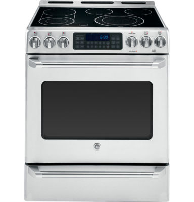 "GE Cafe 30"" 5.4 Cu. Ft. Electric Range with Self Cleaning Convection Oven & Baking Drawer"""