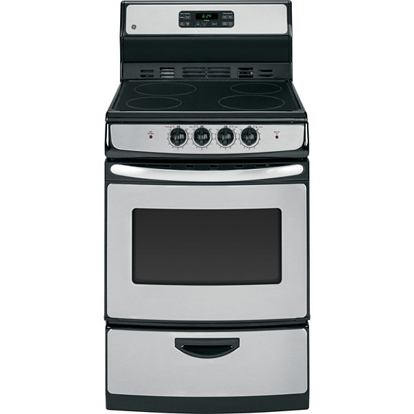"GE® 24"" 3.0 Cu. Ft. Electric Range with Self Cleaning Oven"
