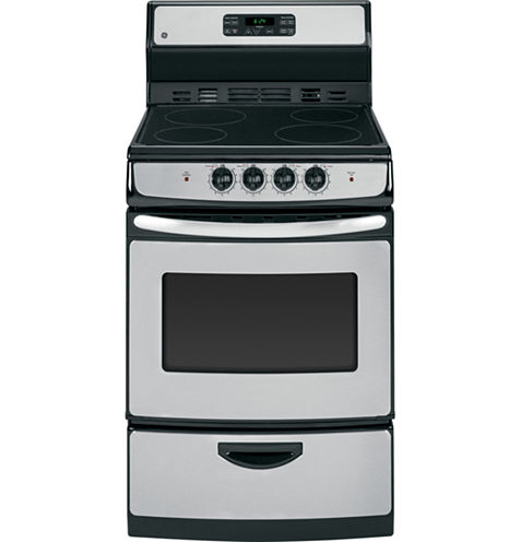 """GE® 24"""" 3.0 Cu. Ft. Electric Range with Self Cleaning Oven"""