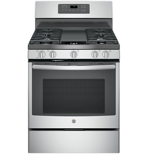 "GE® 30"" 5.0 Free-Standing Gas Convection Range"