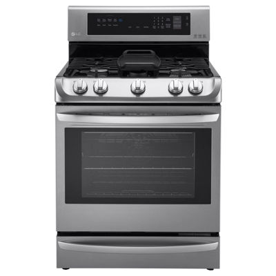 LG 6.3 cu. ft. Capacity Gas Single Oven Range with ProBake Convection™, EasyClean® and Warming Drawer