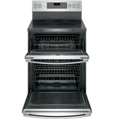 "GE® 30"" 6.6 Cu. Ft. Free-Standing Double Oven Electric Range with Convection"