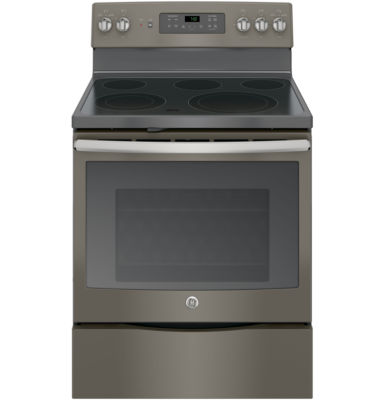 """GE® 30"""" 5.3 Cu. Ft. Free-Standing Electric Range with Convection Oven"""