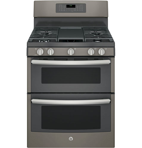 """GE® 30"""" Free-Standing Double Oven Gas Range with Convection"""