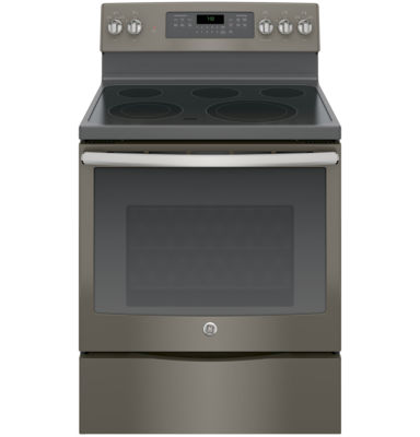"GE® 30"" 5.3 Cu. Ft. Free-Standing Electric Range with Convection Oven"