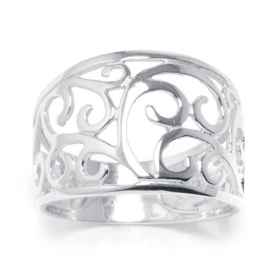 Silver Treasures™ Sterling Silver Scroll Vine Ring