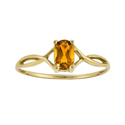 Genuine Yellow Citrine 14K Yellow Gold Ring