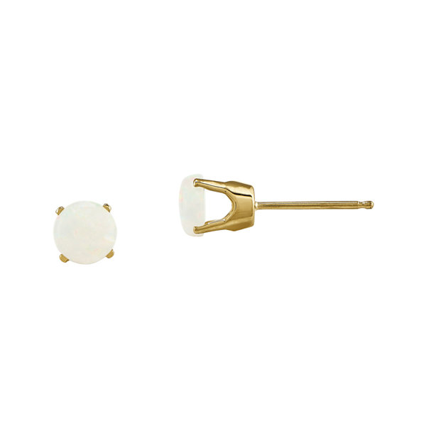 5mm Lab-Created Opal 14K Yellow Gold Stud Earrings