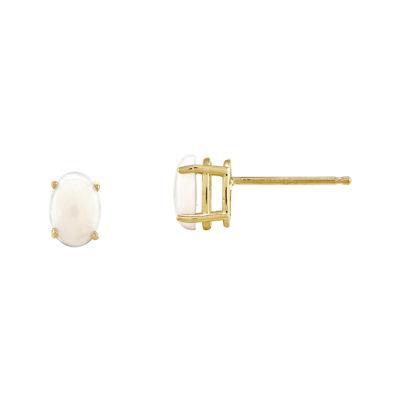 Lab-Created Opal 14K Yellow Gold Opal Earrings