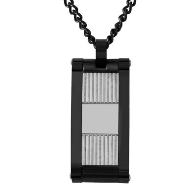Mens Two-Tone Stainless Steel Pendant