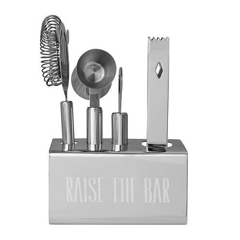 Personalized Stainless-Steel Mixology Set