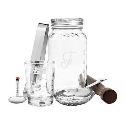 Personalized Mason Jar Mixology Set