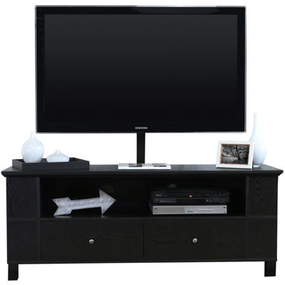 """McCallister 60"""" Black Wood Entertainment Center with TV Stand"""
