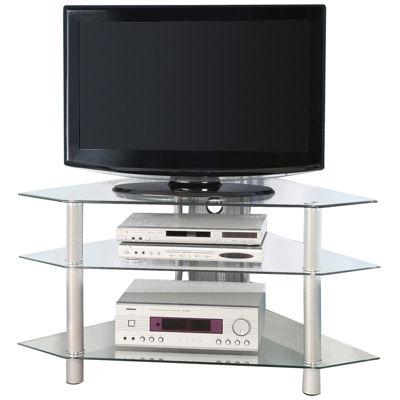 """Babbitt 44"""" Glass Corner TV Stand"""