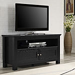 "Powell 44"" Black Wood Entertainment Center"