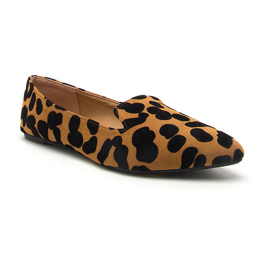 Qupid Womens Zoom 03 Slip On Pointed Toe Ballet Flats