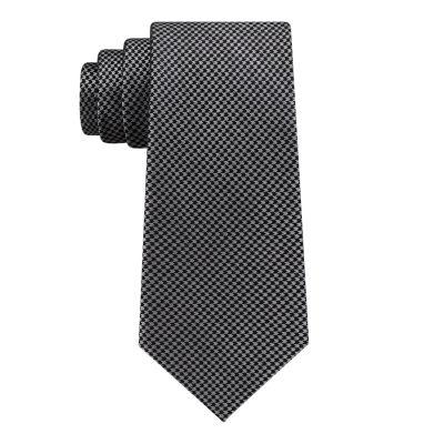 Stafford Houndstooth Xlong Geometric Tie
