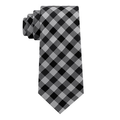 Stafford Suiting Gingham Xlong Plaid Tie